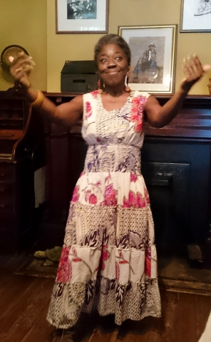 Mama Koku, Professional Storyteller at The Wren's Nest, home of Joel Chandler Harris who created The Uncle Remus Stories