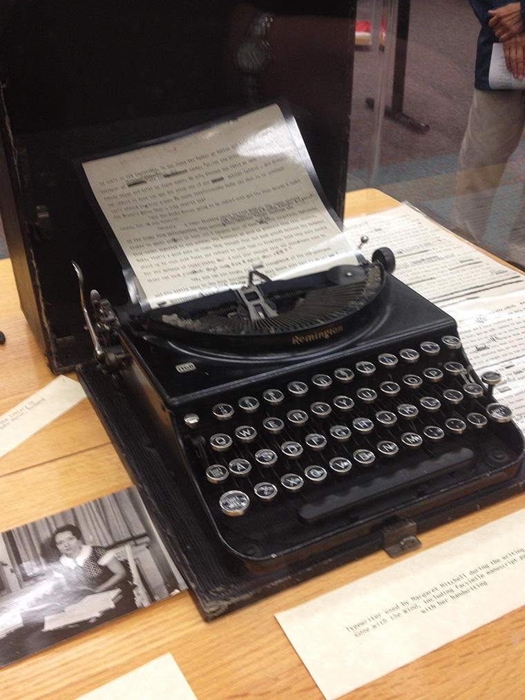 "The typewriter on which Margaret Mitchell wrote ""Gone with the Wind"", in Atlanta, Georgia, image"