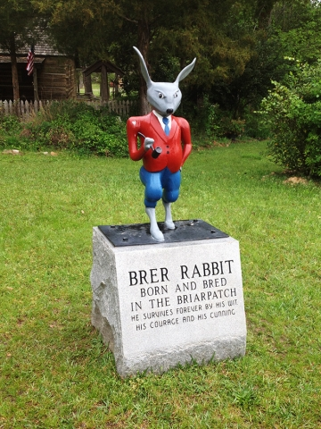 Statue of Bre'r Rabbit in front of Uncle Remus Museum, Eatonton, Georgia, image