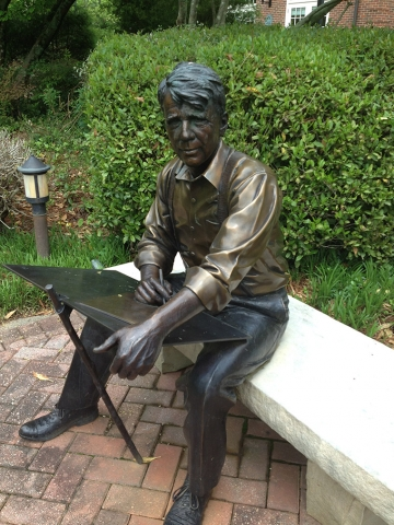 Statue of poet Robert Frost at Agnes Scott College, Georgia, image
