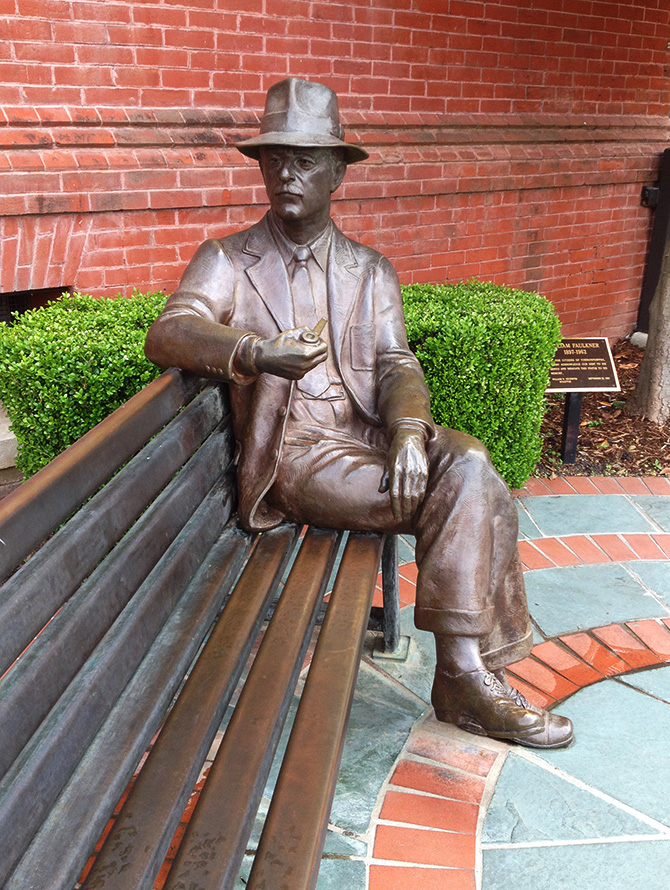 Statue of writer William Faulkner, in Oxford, Mississippi, image