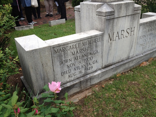 "The grave of Margaret Mitchell, author of ""Gone with the Wind"", image"