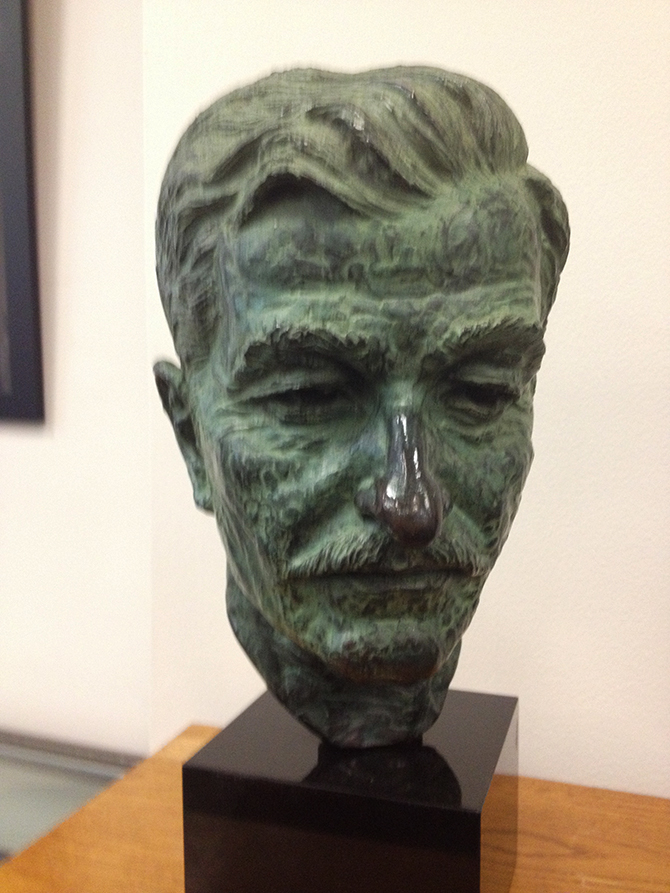 Bust of William Faulkner, American writer and Nobel Prize Laureate from Oxford, Mississippi, image