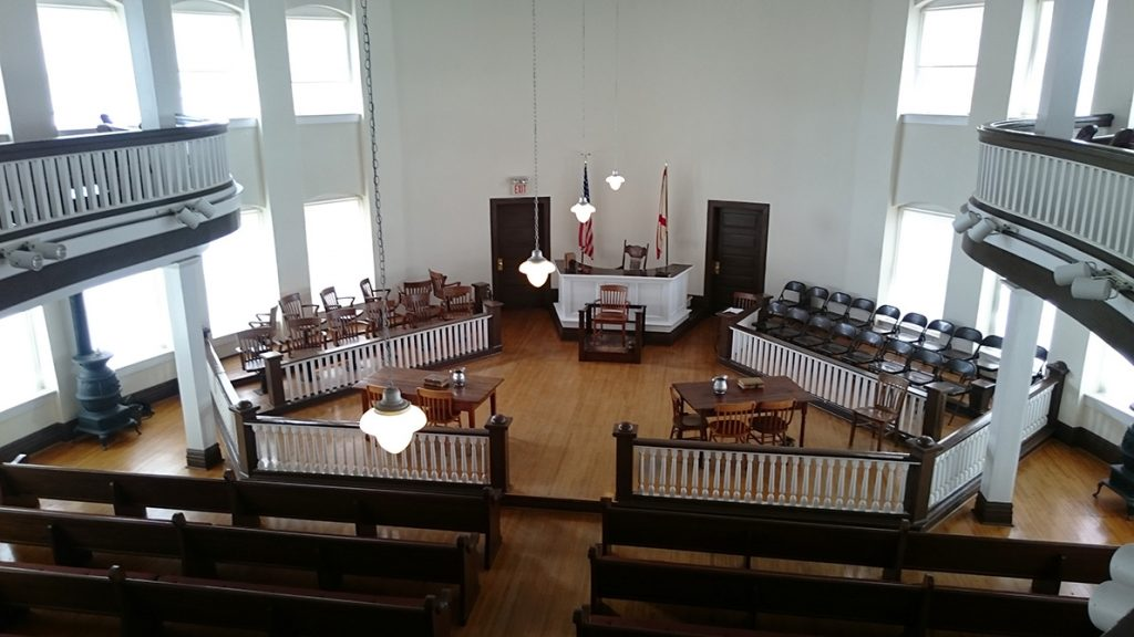 Courthouse at Monroeville, setting of the trial scene in Harper Lee's To Kill A Mockingbird, image