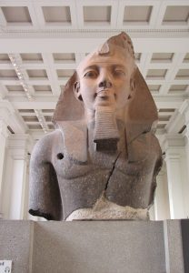 Ozymandias, the statue whose imminent arrival inspired both poems.