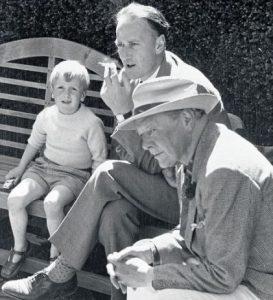 Adam Nicolson with his father Nigel and grandfather Harold image