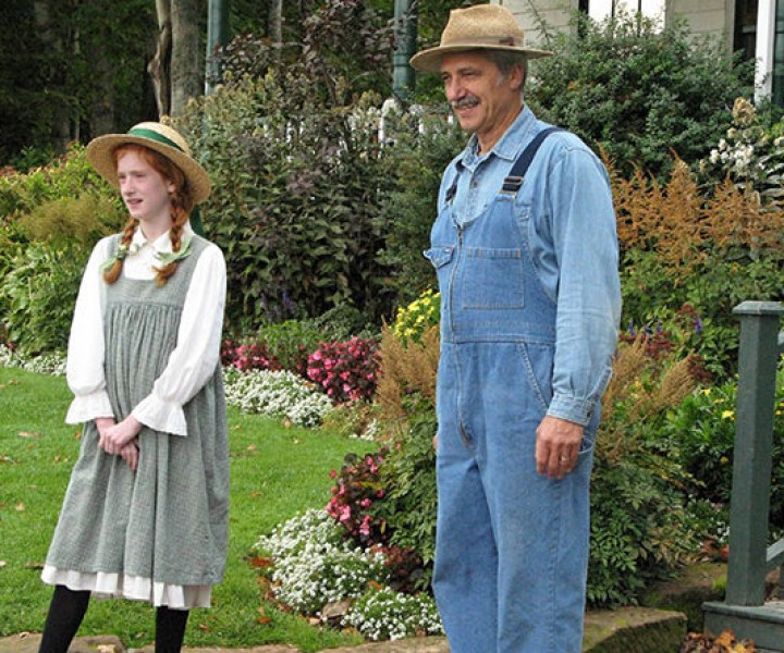 Actors at the Anne of Green Gables museum in Cavendish, Prince Edward Island.