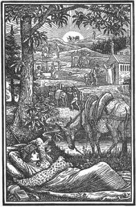 Frontispiece of Travels with a Donkey in the Cévennes, Robert Louis Stevenson