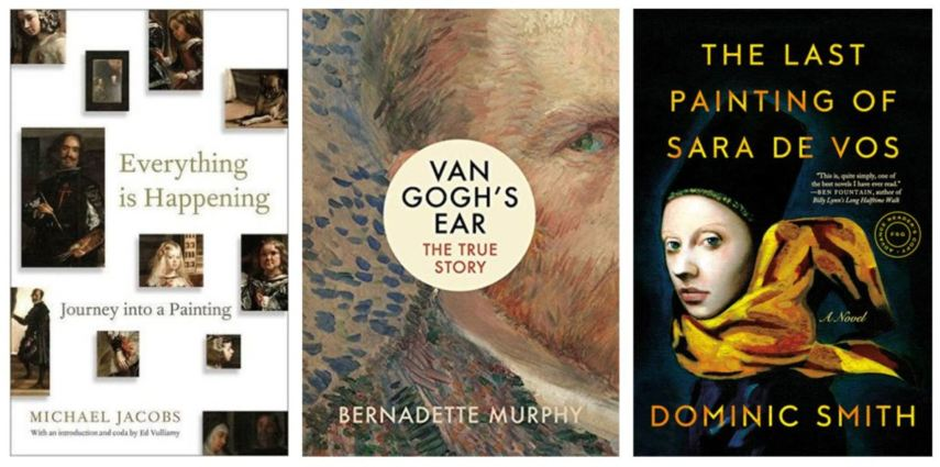 Covers of books about art
