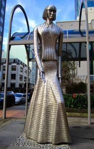 Statue of Katherine Mansfield in Wellington, N.Z.