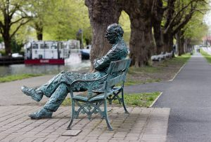 Patrick Kavanagh statue along the Grand Canal in Dublin