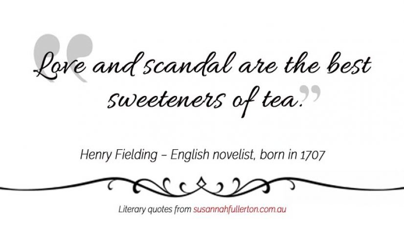 Henry Fielding quote by Susannah Fullerton