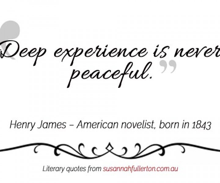Henry James quote by Susannah Fullerton