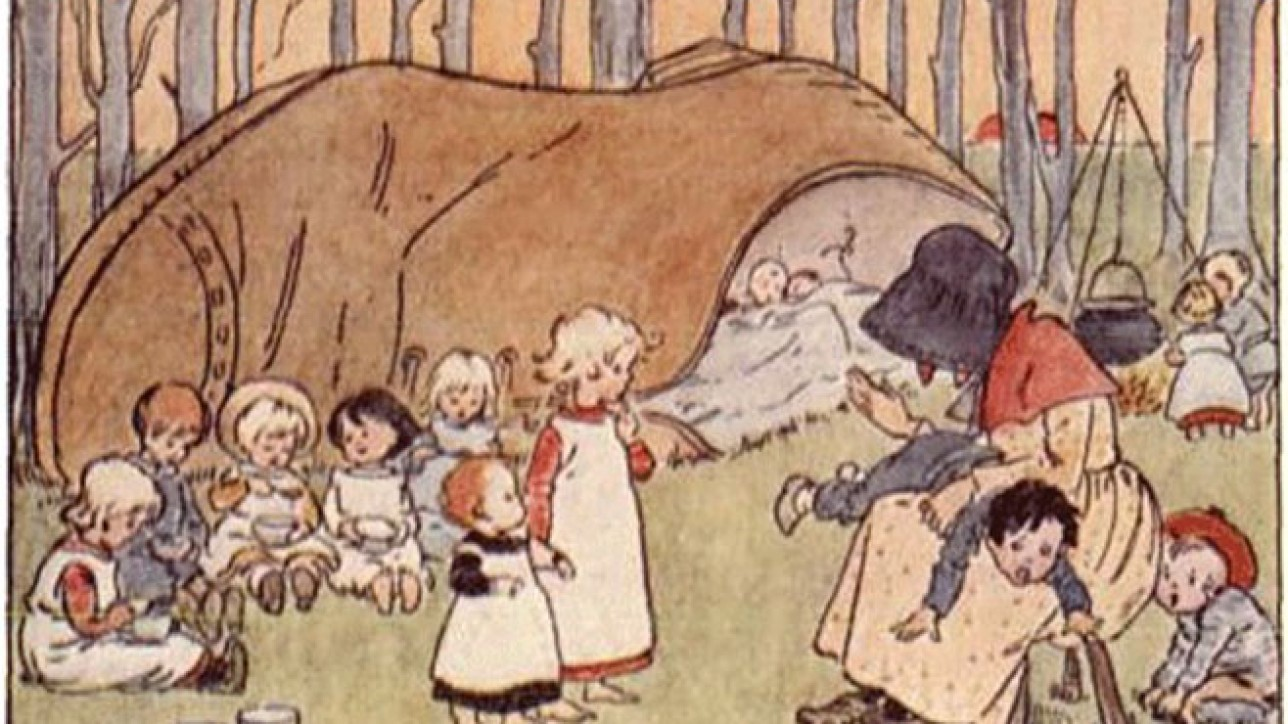 There Was an Old Woman Who Lived in a Shoe. Project Gutenberg's Childhood's Favorites and Fairy Stories, by Various.