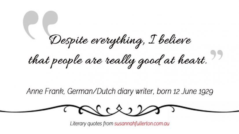 Anne Frank quote by Susannah Fullerton