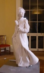 Maquette for the Jane Austen sculpture by Adam Roud