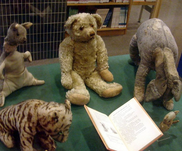 The real stuffed toys owned by Christopher Robin Milne.