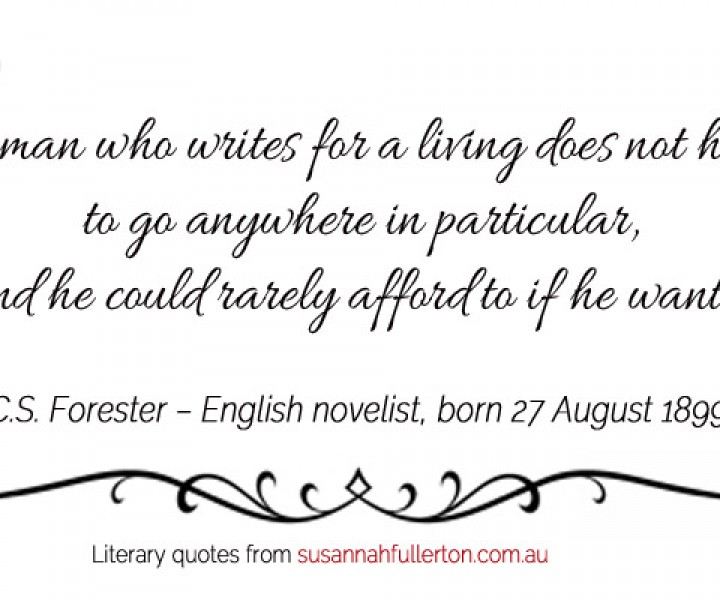 C.S. Forester quote by Susannah Fullerton
