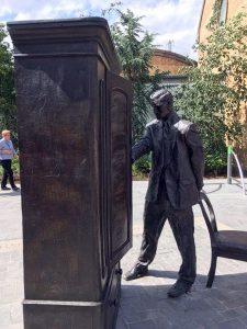 Statue of author C.S. Lewis in Belfast