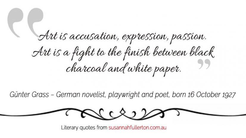 Günter Grass quote by Susannah Fullerton