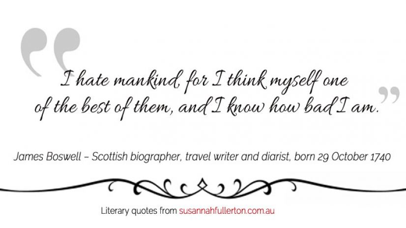 James Boswell quote by Susannah Fullerton