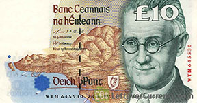 Irish banknote James Joyce