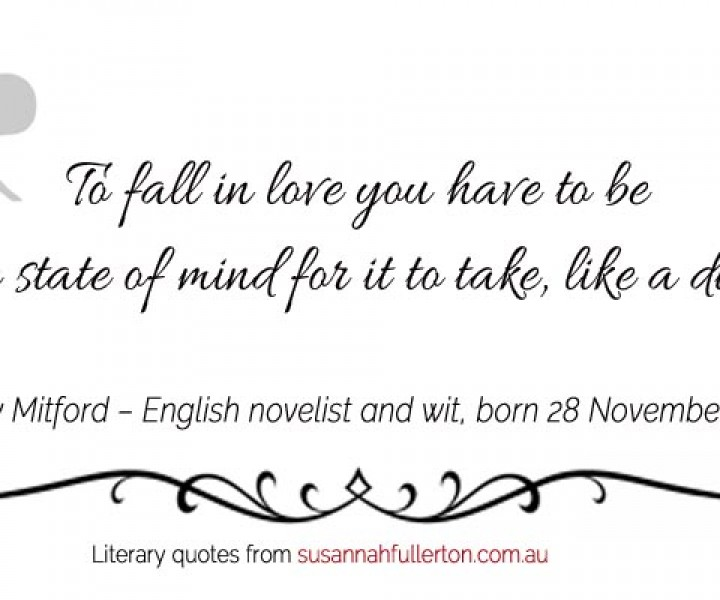 Nancy Mitford quote by Susannah Fullerton