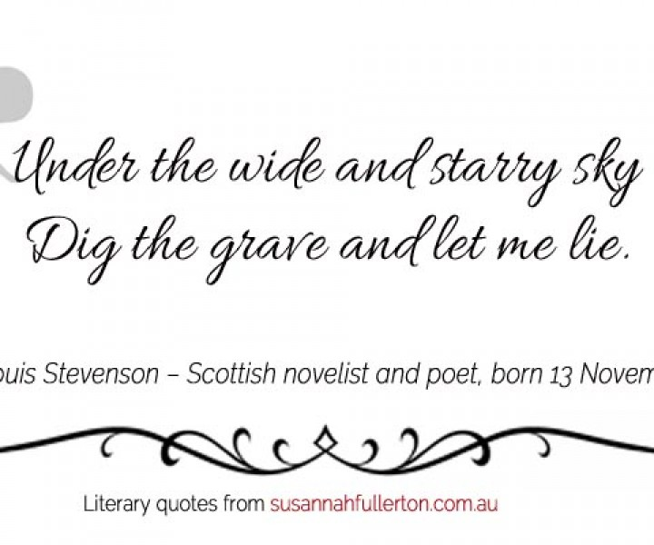 Robert Louis Stevenson quote by Susannah Fullerton