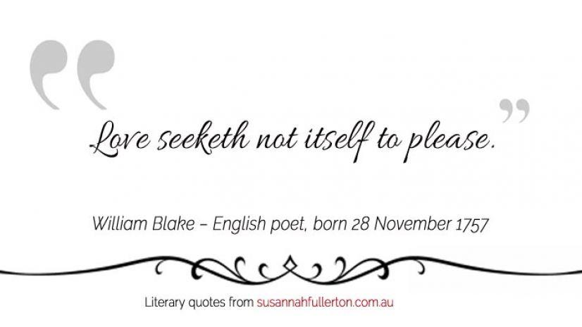 William Blake quote by Susannah Fullerton