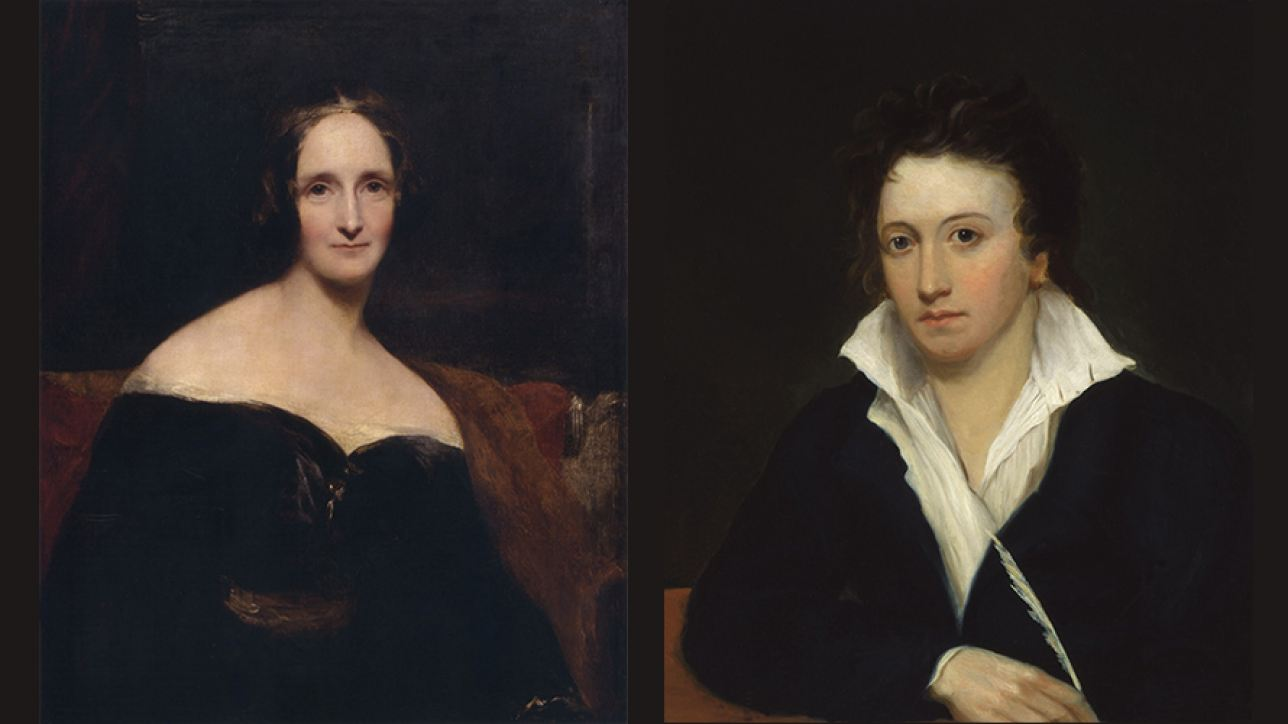 Mary Shelley and Percy Bysshe Shelley