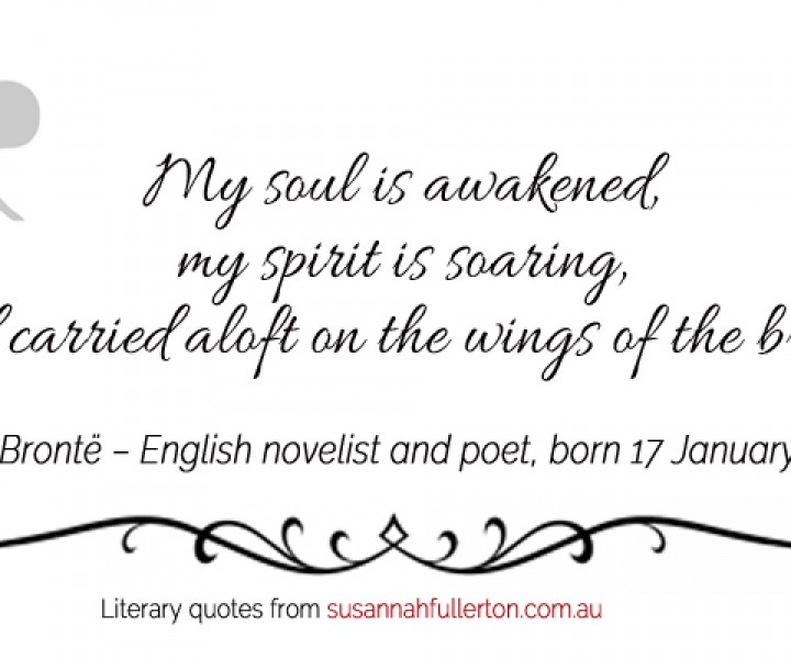 Anne Brontë quote by Susannah Fullerton
