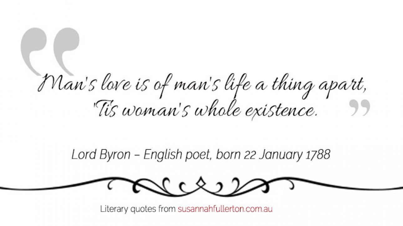Lord Byron quote by Susannah Fullerton