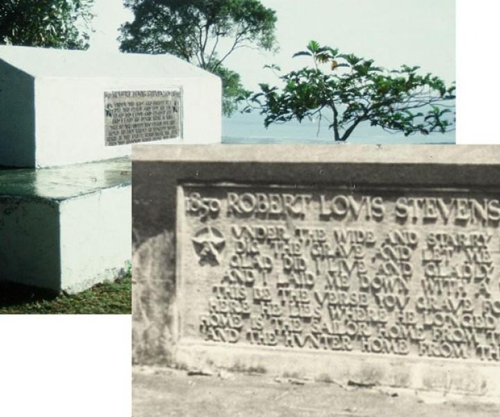 R.L. Stevenson grave
