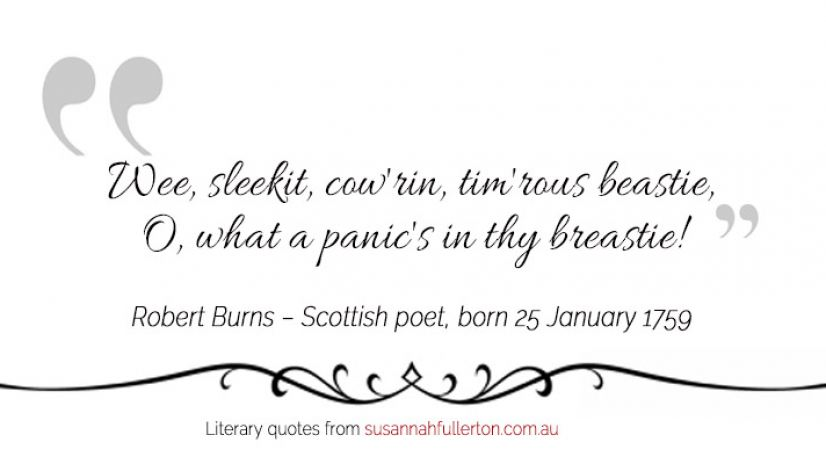 Robert Burns quote by Susannah Fullerton