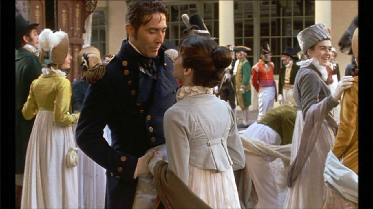 Amanda Root as Anne and Ciaran Hinds as Captain Wentworth, Persuasion, 1995 Movie adaptation