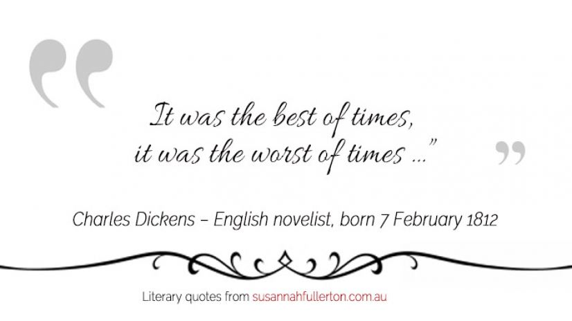 Charles Dickens quote by Susannah Fullerton