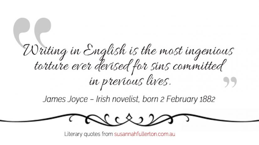 James Joyce quote by Susannah Fullerton