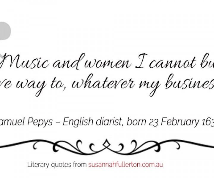 Samuel Pepys quote by Susannah Fullerton