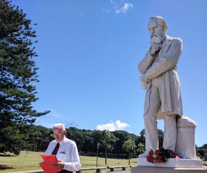 Dickens' statue in Sydney's Centennial Parkland