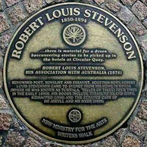 RL Stevenson plaque