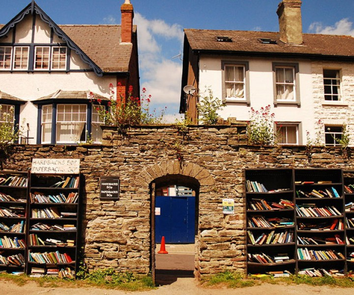"""The Honest Bookshop"" in Hay on Wye, Wales, UK."