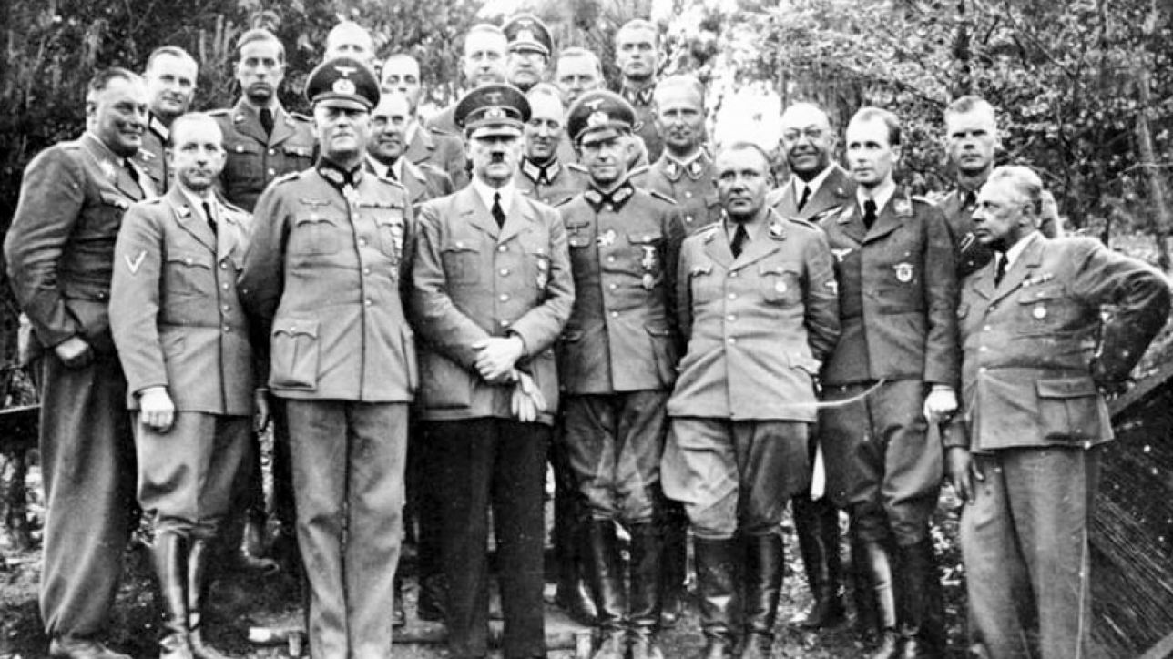 Hitler with staff, May or June 1940
