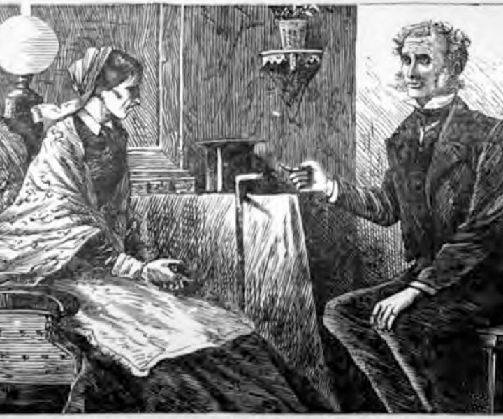 Illustration from the book, The Moonstone, by Wilkie Collins
