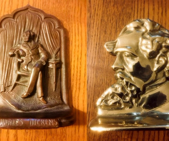 Charles Dickens book ends