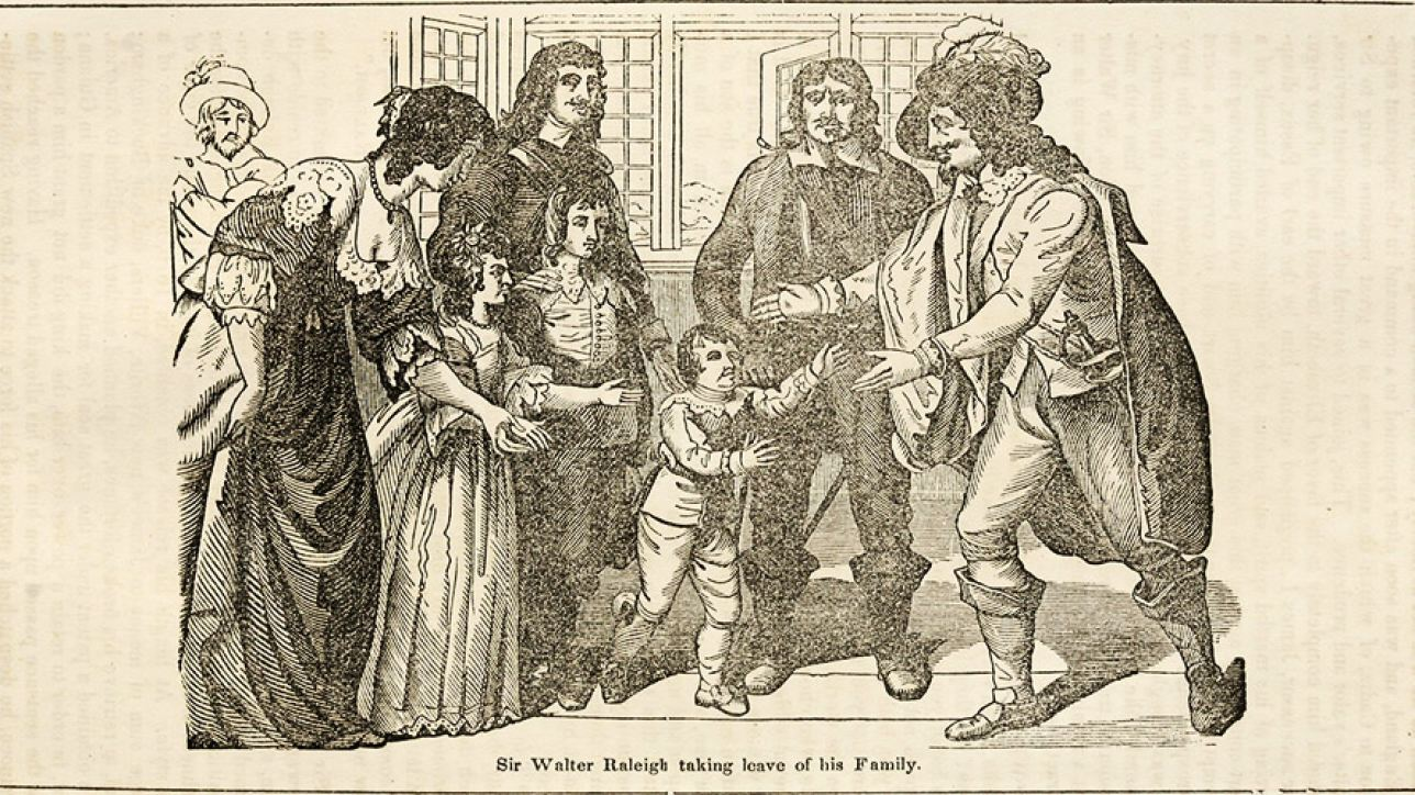 Sir Walter Raleigh taking leave of his family