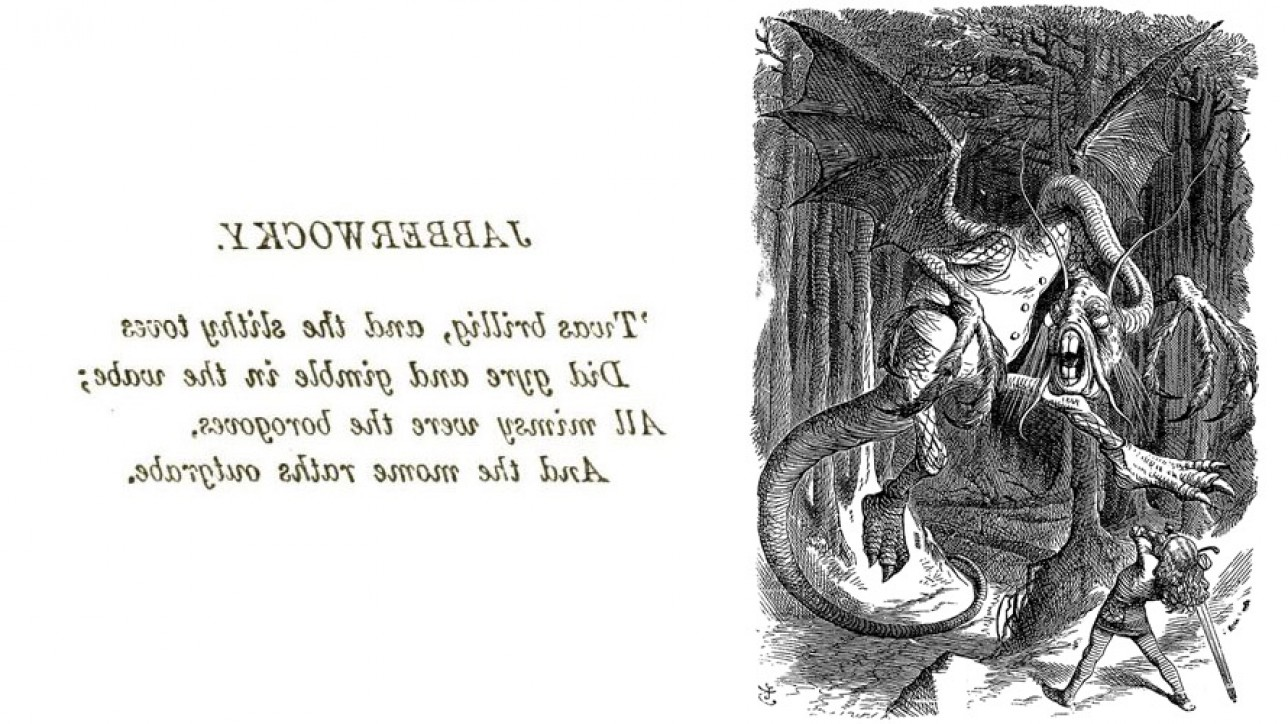 The Jabberwock, as illustrated by John Tenniel