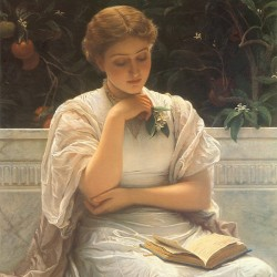 A Girl Reading by Charles Edward Perugini 1878